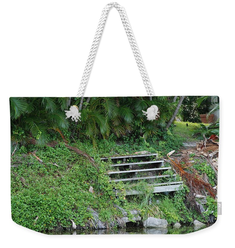 Grass Weekender Tote Bag featuring the photograph Steps In The Grass by Rob Hans