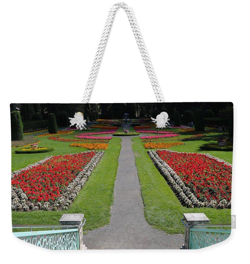 Duncan Garden Weekender Tote Bag featuring the photograph Steps To Duncan Garden by Carol Groenen