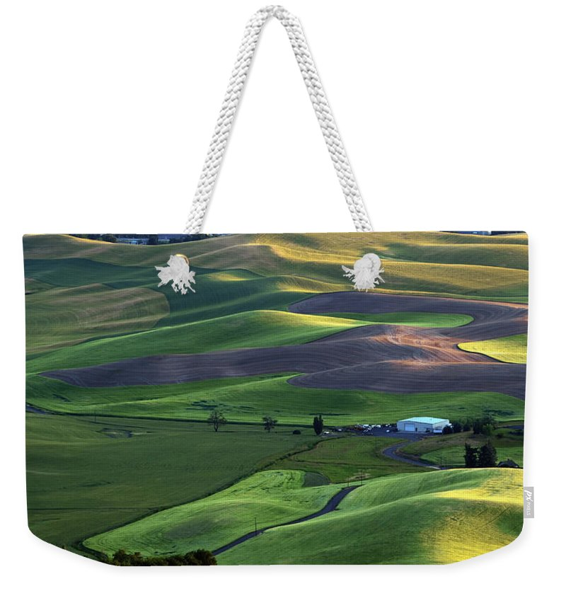 Palouse Weekender Tote Bag featuring the photograph Steptoe Shadows by Mike Dawson
