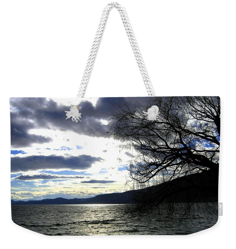 Sunset Weekender Tote Bag featuring the photograph Sterling Silver Sunset by Will Borden