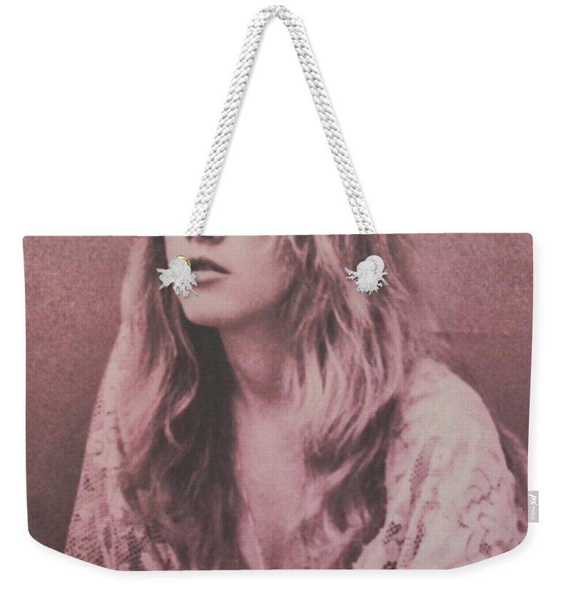 Stevie Nicks Weekender Tote Bag featuring the photograph Stevie Nicks by Donna Wilson