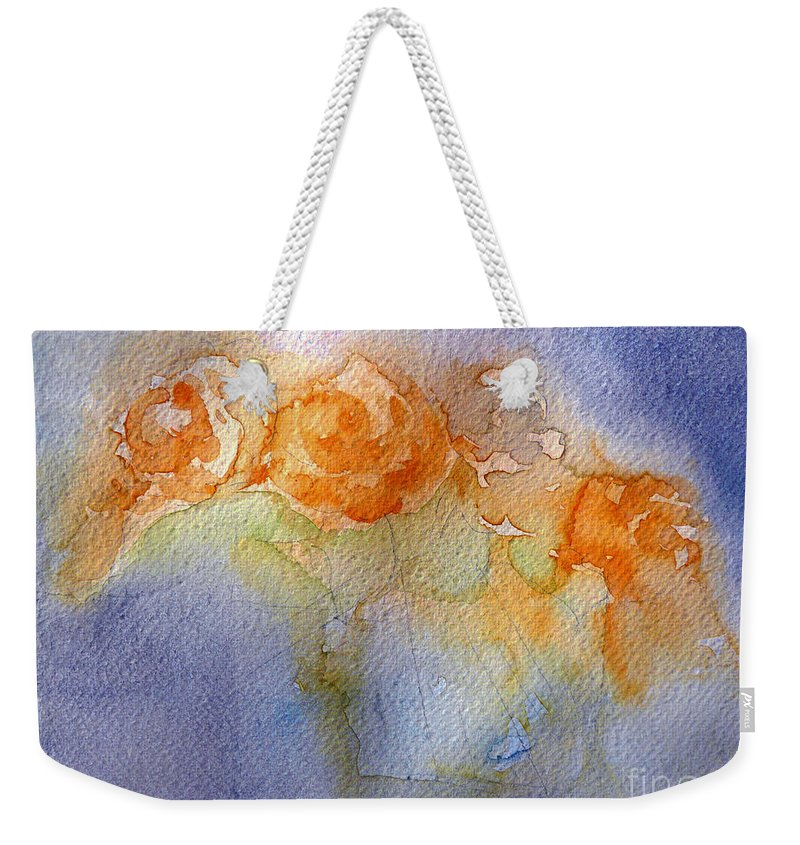 Impressions Weekender Tote Bag featuring the painting Still Alive by Jasna Dragun