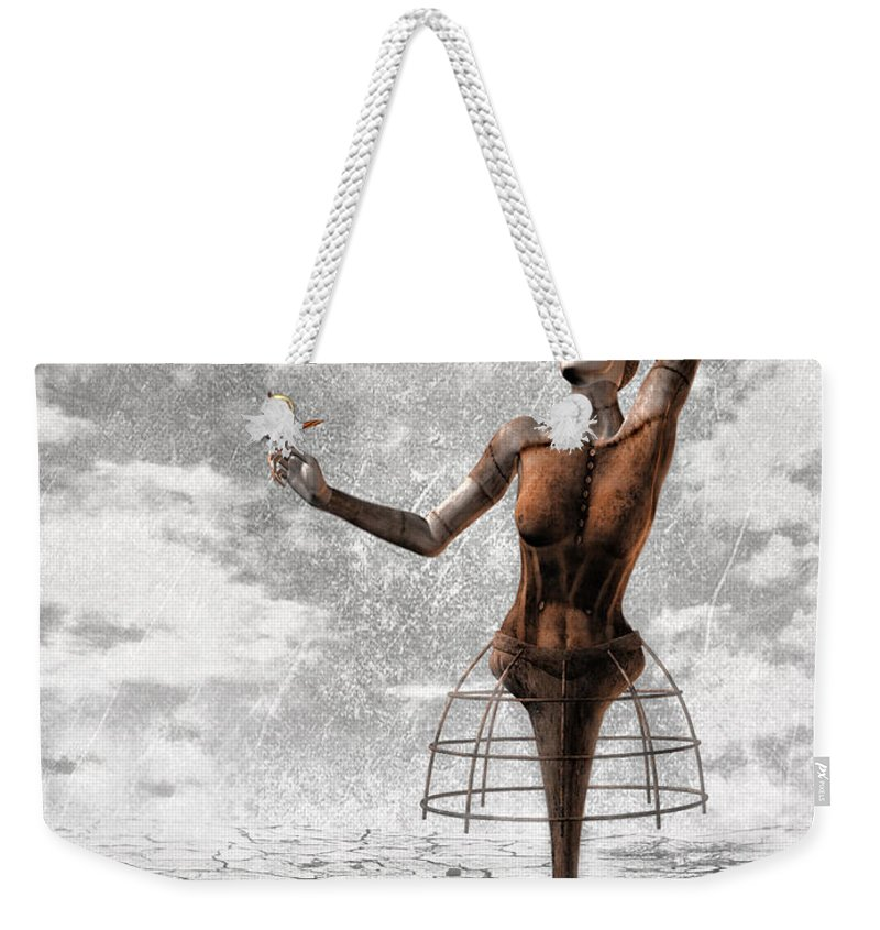 Surreal Weekender Tote Bag featuring the painting Still Believe by Jacky Gerritsen