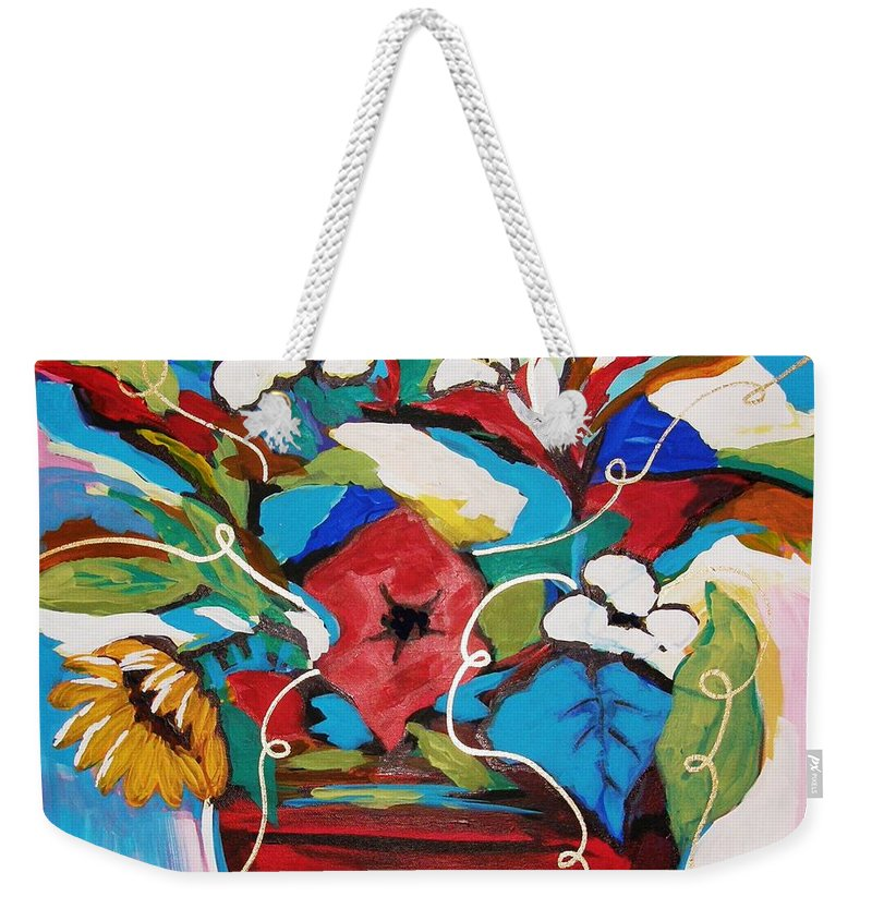 Floral Weekender Tote Bag featuring the painting Still Dreaming Of Tuscany by Gina Hulse