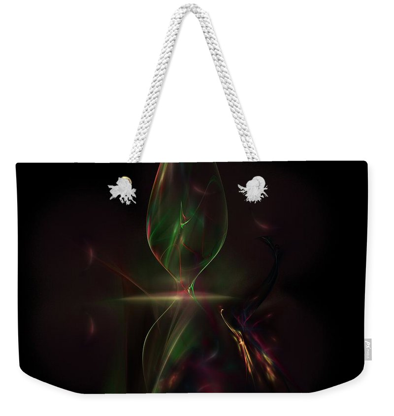 Abstract Digital Painting Weekender Tote Bag featuring the digital art Still Life 11-14-09 by David Lane
