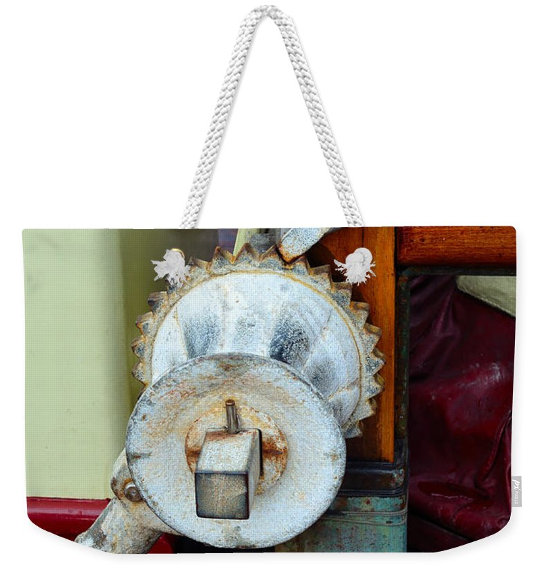 Tall Ship Weekender Tote Bag featuring the photograph Still Life 3 Aboard Ship by Richard Ortolano