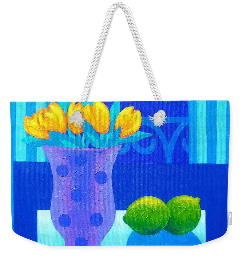 Acrylic Weekender Tote Bag featuring the painting Still Life At Window IIi by John Nolan