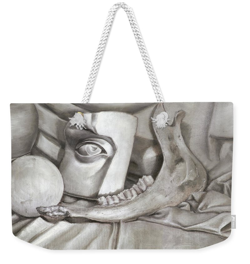 Oil Weekender Tote Bag featuring the painting Still Life by Camille Kuo