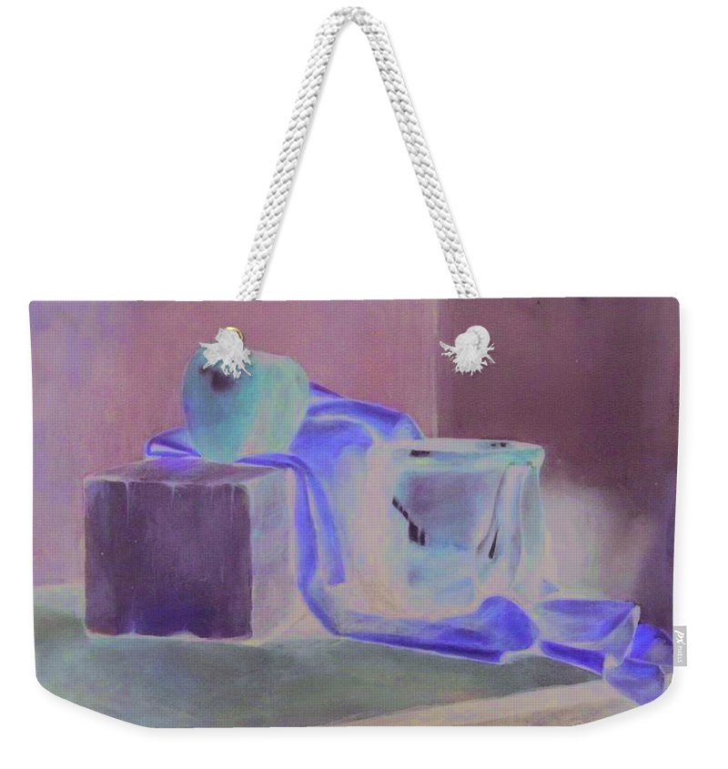 Still Life Weekender Tote Bag featuring the pastel Still Life by Charles Vernon Moran