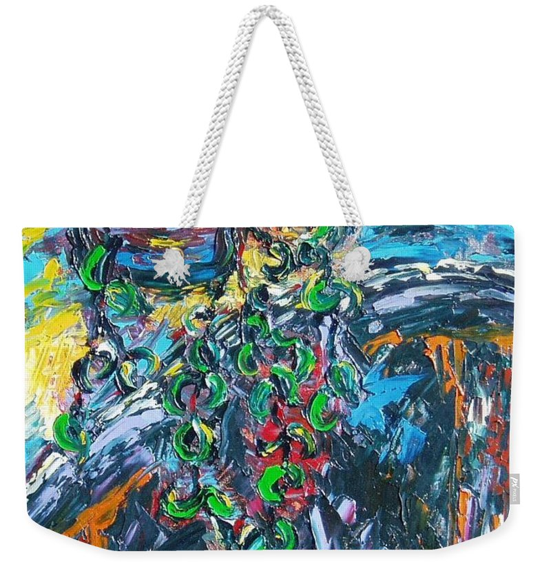Sjkim Art Weekender Tote Bag featuring the painting Abstract Still Life by Seon-Jeong Kim
