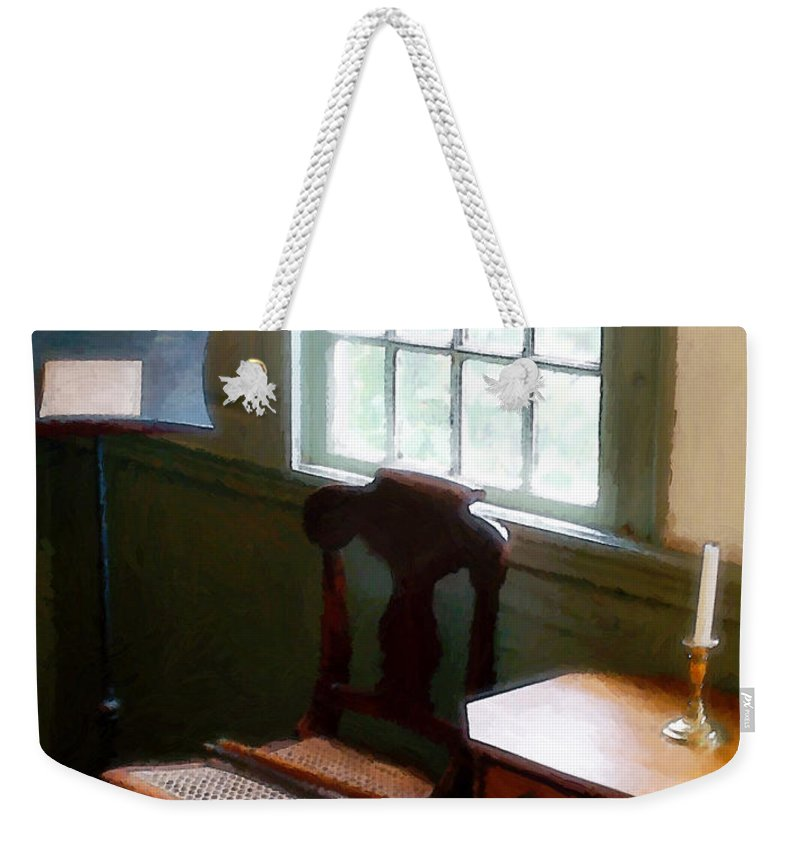 Still Life Weekender Tote Bag featuring the painting Still Life, Stevens House by RC deWinter
