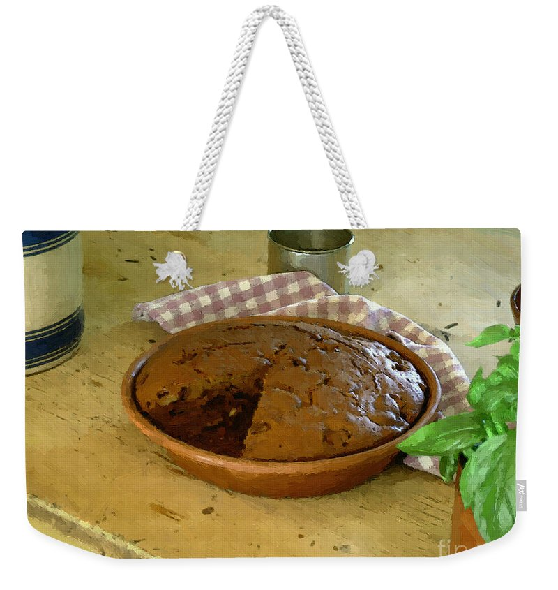 Gingerbread Weekender Tote Bag featuring the painting Still Life With Gingerbread by RC DeWinter