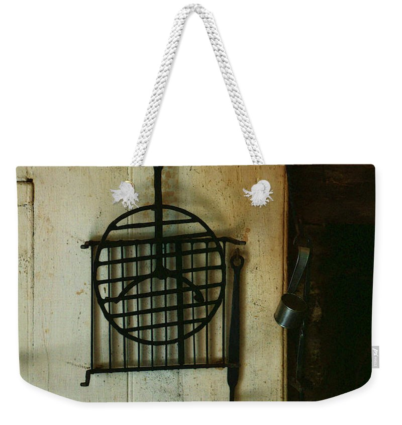 Still Life Weekender Tote Bag featuring the painting Still Life With Hearth Tools by RC DeWinter