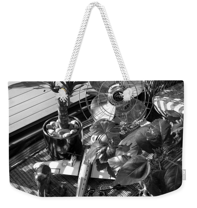 Still Life Weekender Tote Bag featuring the photograph Still Life With Salamander by Charles Stuart