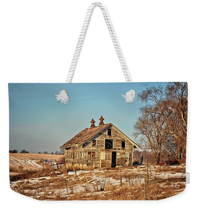Shed Weekender Tote Bag featuring the photograph Still Standing 2 by Bonfire Photography