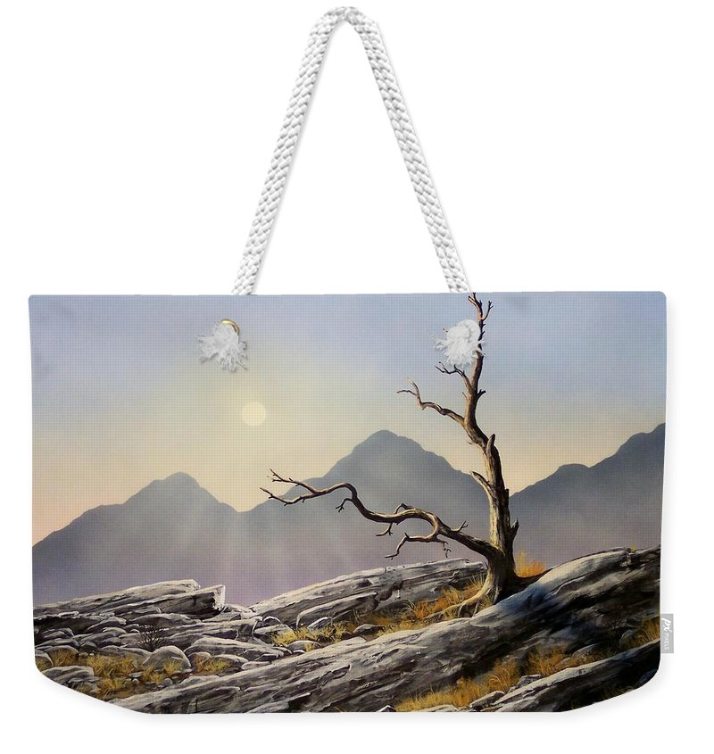 Still Standing Weekender Tote Bag featuring the painting Still Standing by Frank Wilson