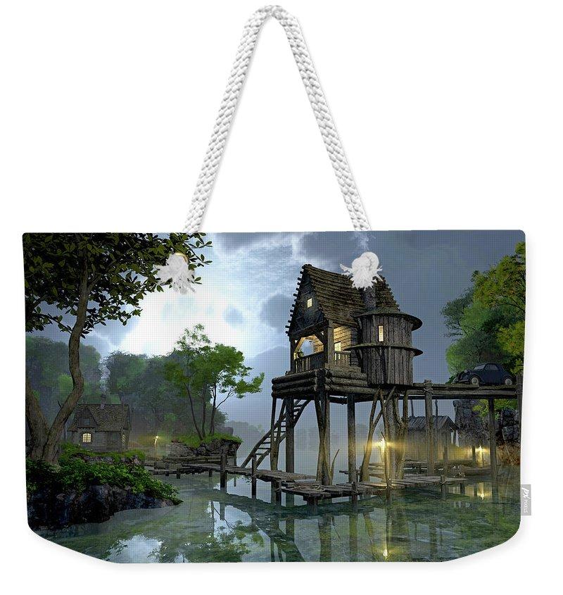 Deck Digital Art Weekender Tote Bags