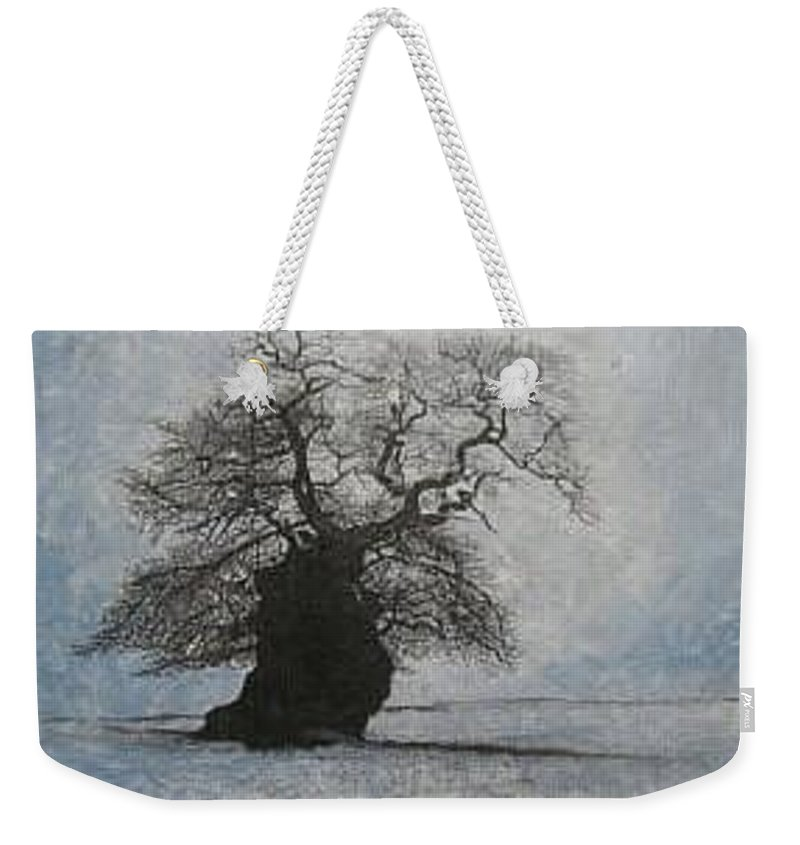 Silhouette Weekender Tote Bag featuring the painting Stilton Silhouette by Leah Tomaino
