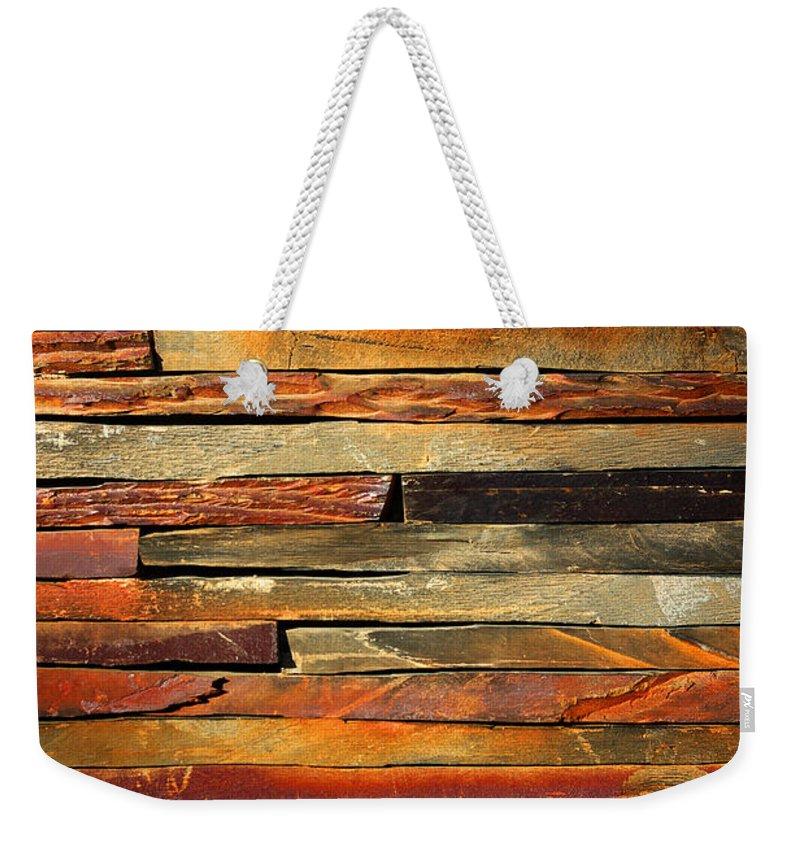 Stone Wall Weekender Tote Bags