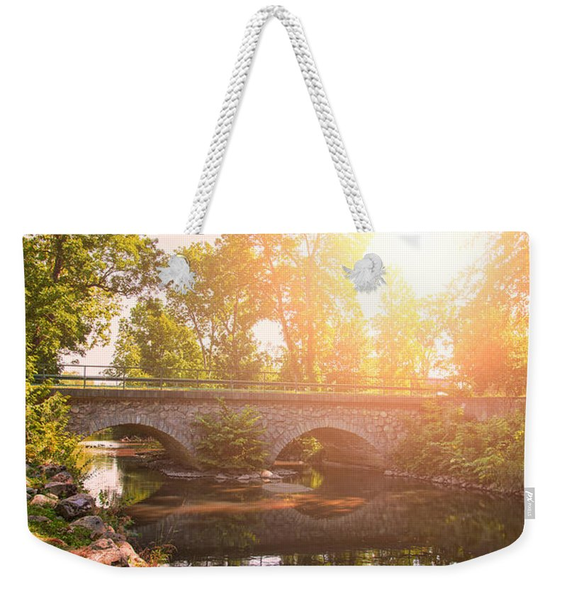 Sweden Weekender Tote Bag featuring the photograph Stone Bridge by Sophie McAulay