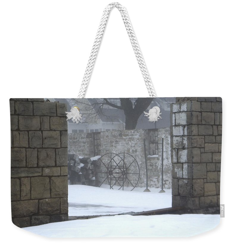 Winter Weekender Tote Bag featuring the photograph Stone Cellar by Tim Nyberg