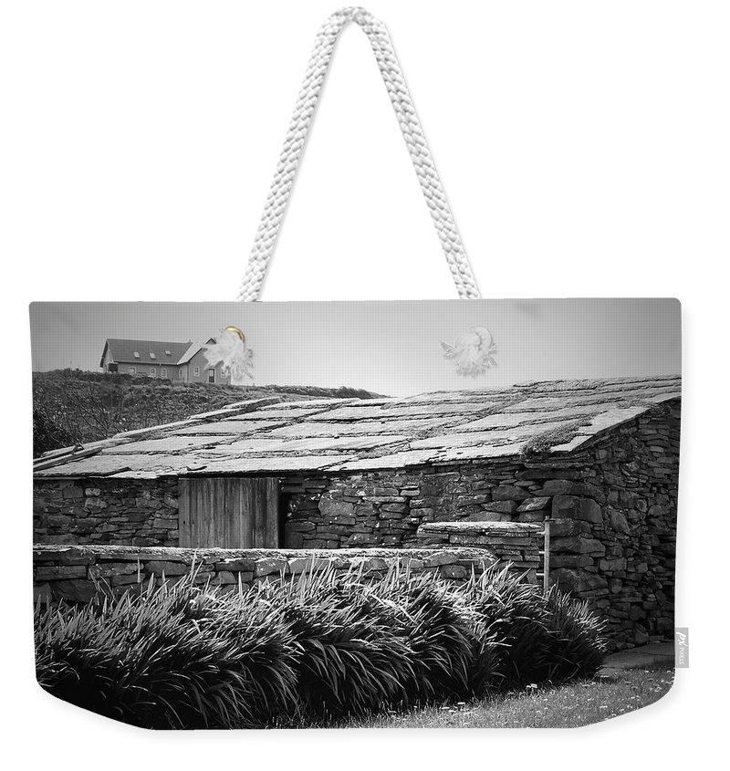 Irish Weekender Tote Bag featuring the photograph Stone Structure Doolin Ireland by Teresa Mucha