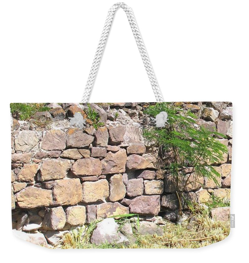 Stone Wall Weekender Tote Bag featuring the photograph Stone Wall by Ian MacDonald