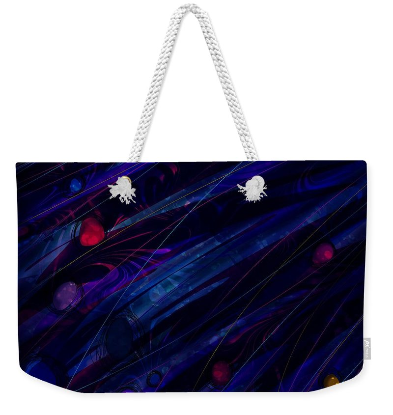 Abstract Weekender Tote Bag featuring the digital art Stoned by Rachel Christine Nowicki