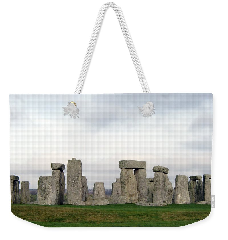 Stonehenge Weekender Tote Bag featuring the photograph Stonehenge by Amanda Barcon