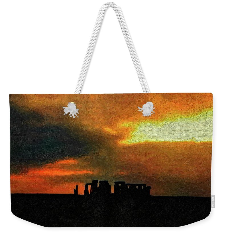 Stonehenge Weekender Tote Bag featuring the photograph Stonehenge by Steve Harrington