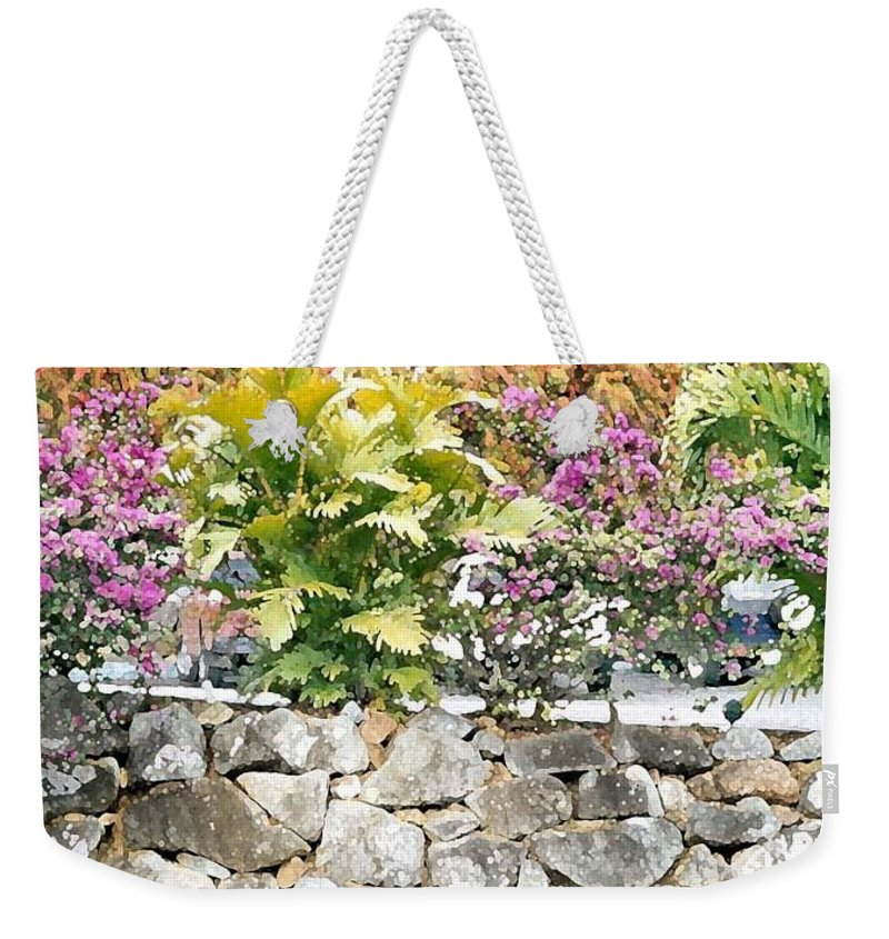 Digital Artwork Weekender Tote Bag featuring the digital art Stonewall Drive by Donna Corless