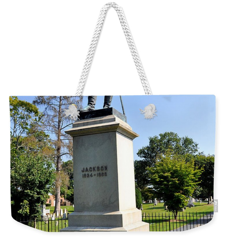 Stonewall Jackson Weekender Tote Bag featuring the photograph Stonewall Jackson by Todd Hostetter