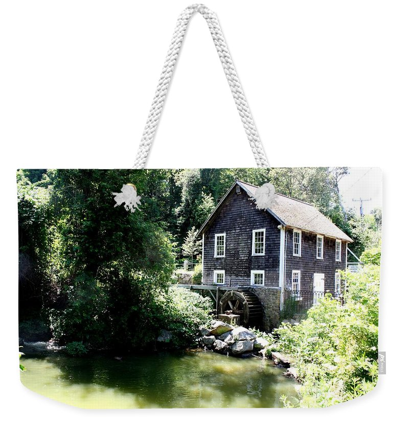 Stony Brook Gristmill & Museum Weekender Tote Bag featuring the photograph Stony Brook Gristmill And Museum by Donna Walsh