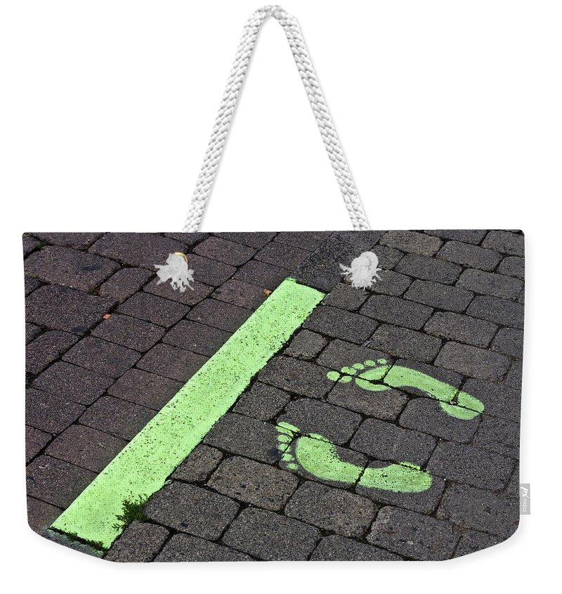 Heiko Weekender Tote Bag featuring the photograph Stop Line by Heiko Koehrer-Wagner