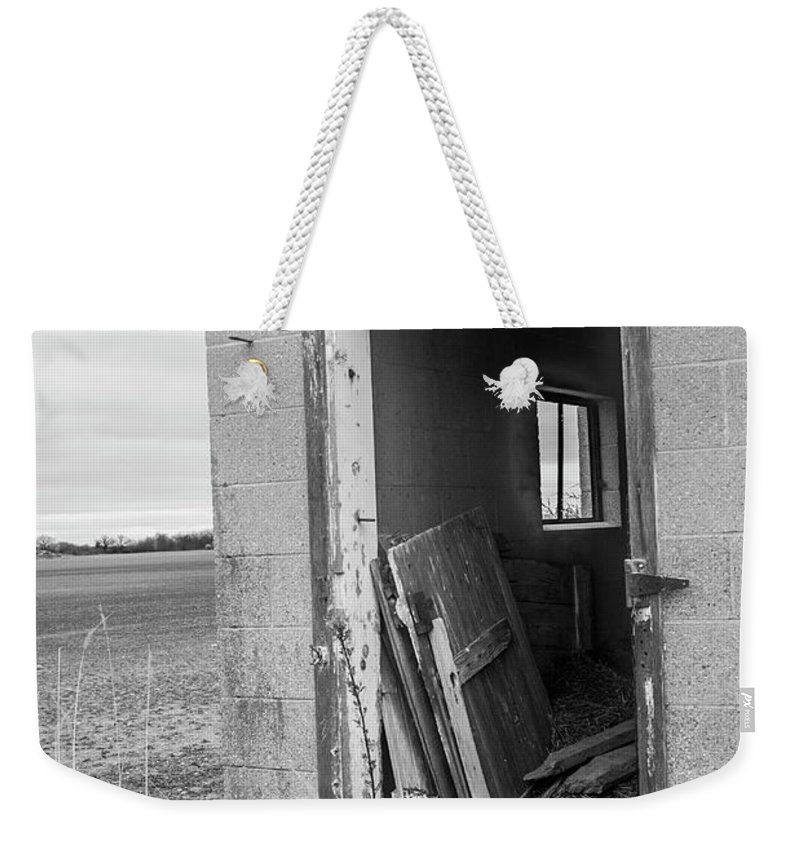 Weekender Tote Bag featuring the photograph Storage by Melissa Newcomb