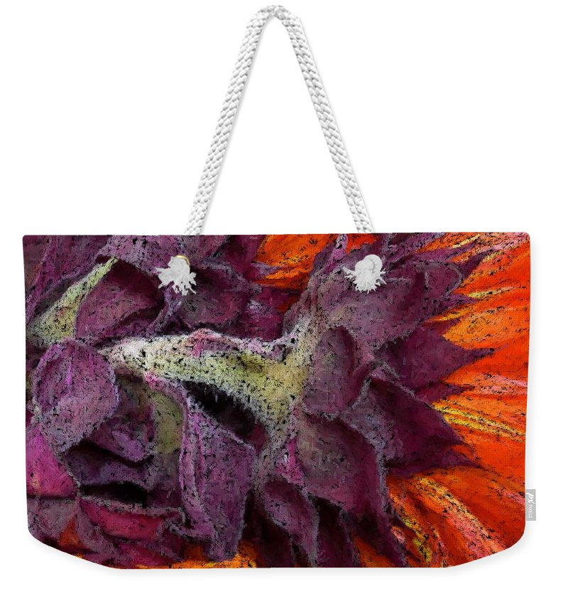 Flower Weekender Tote Bag featuring the photograph Store Flower by Ron Bissett