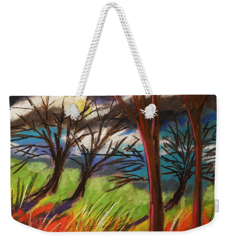 Pastes Weekender Tote Bag featuring the painting Storm Approaching Fast by John Williams