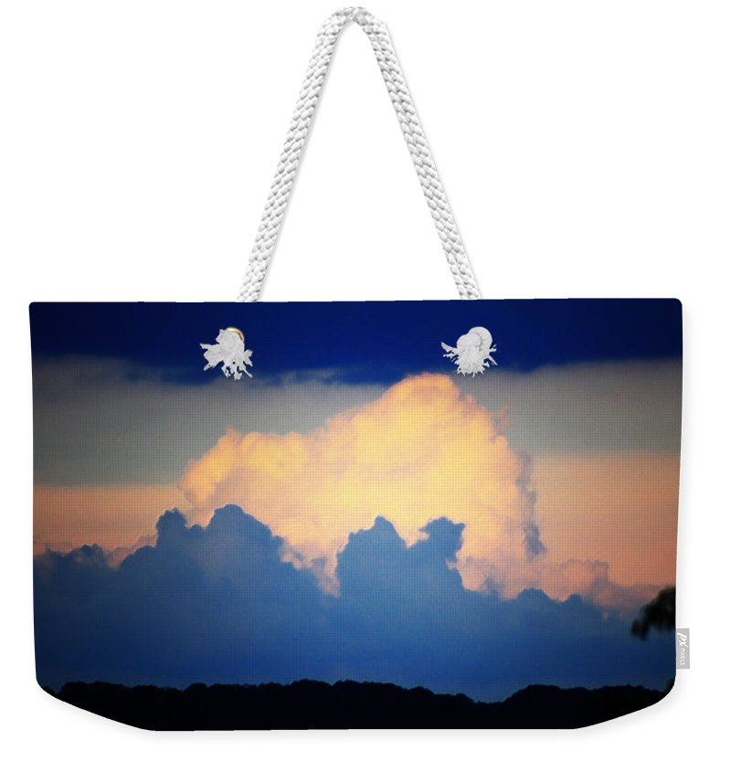 West Weekender Tote Bag featuring the digital art Storm Approaching Painting by Teresa Mucha