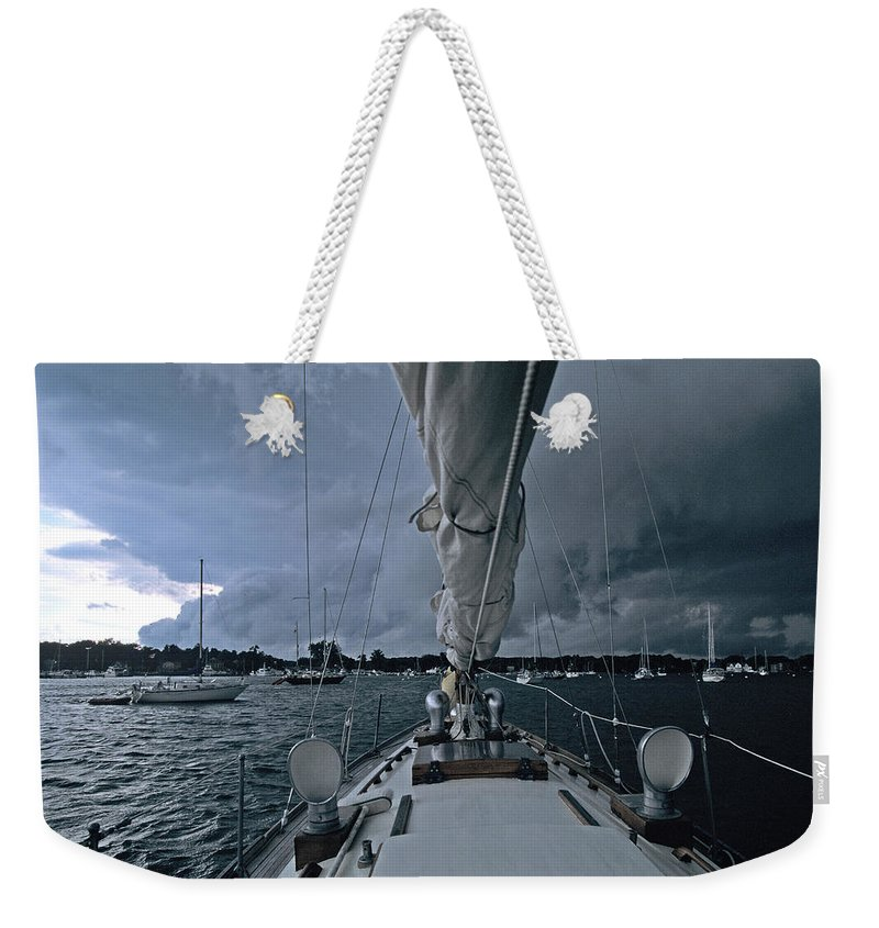 Storm Weekender Tote Bag featuring the photograph Storm At Put-in-bay by John Harmon