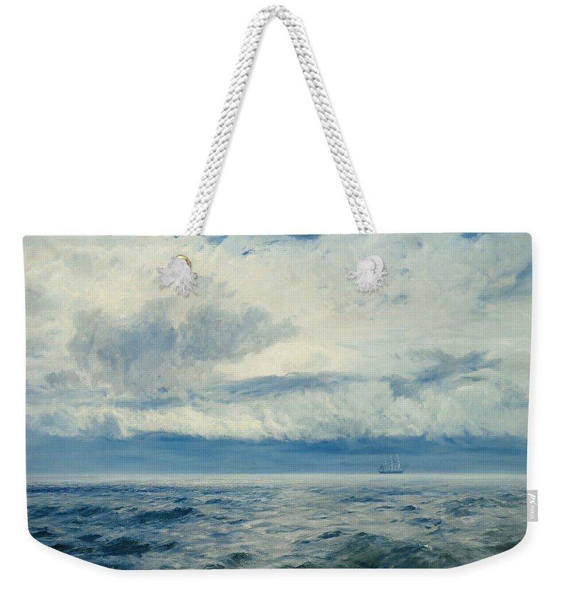 Storm Weekender Tote Bag featuring the painting Storm Brewing by Henry Moore