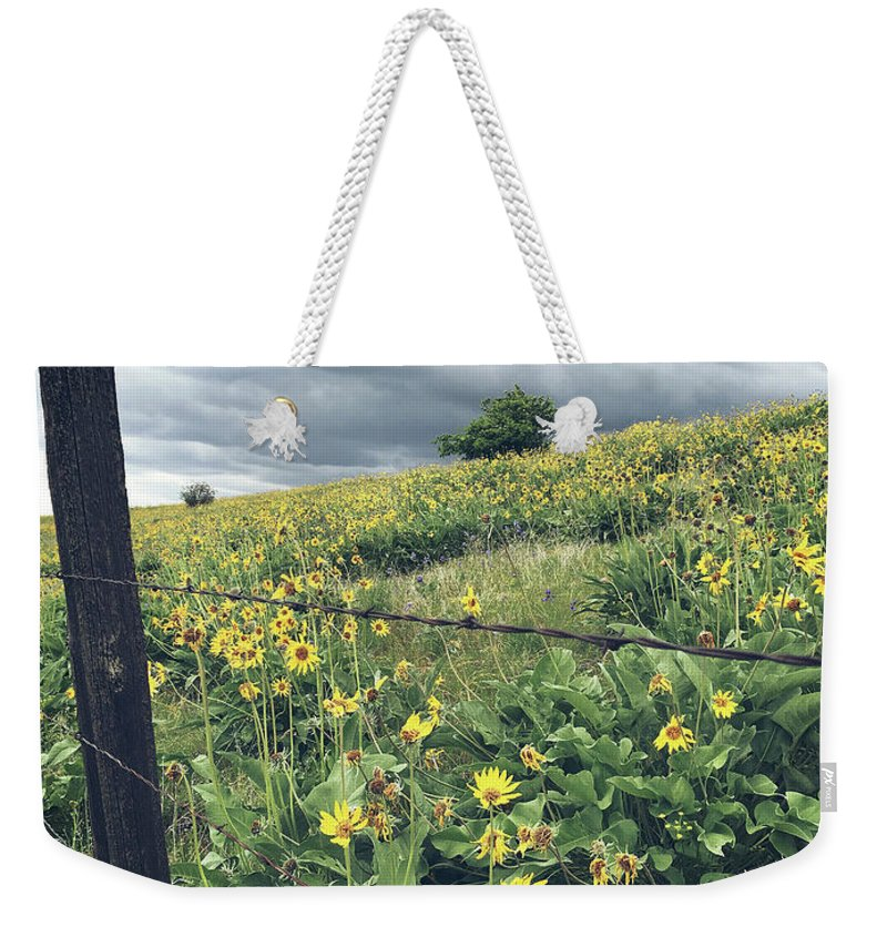 Countryside Weekender Tote Bag featuring the photograph Storm Brewing by Melissa Wester