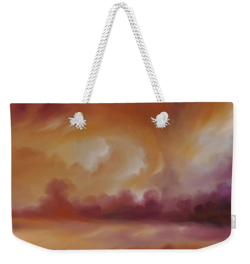 Tempest Weekender Tote Bag featuring the painting Storm Clouds 2 by James Christopher Hill