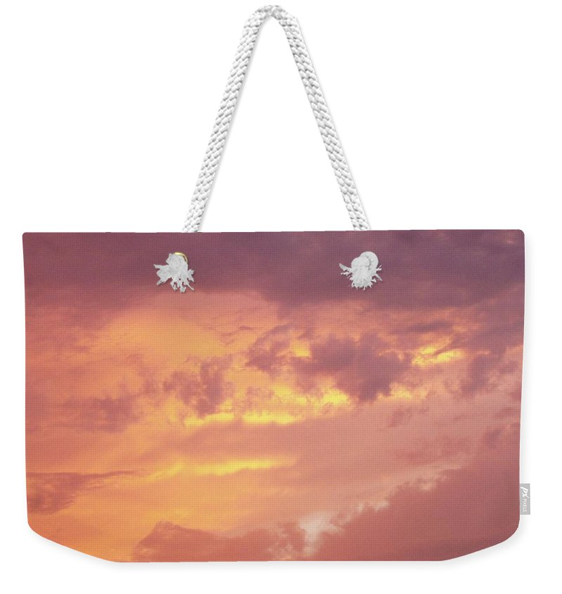 Clouds Weekender Tote Bag featuring the photograph Storm Clouds by Deborah Crew-Johnson