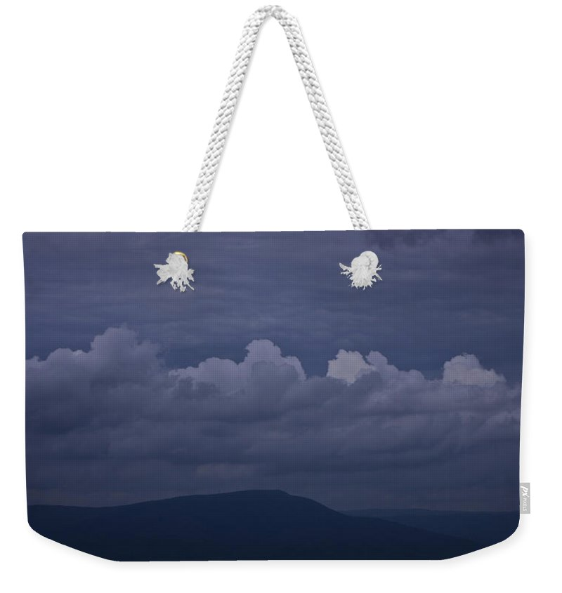 Roanoke Weekender Tote Bag featuring the photograph Storm Clouds Over The Valley by Teresa Mucha