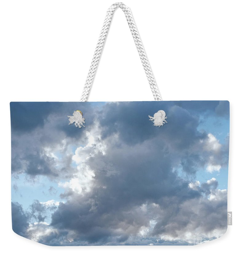 Clouds Weekender Tote Bag featuring the photograph Storm Clouds Passing by Ann Horn