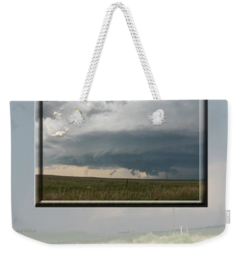 Tornado Strom Weather Rain Thunder Clouds Wind Weekender Tote Bag featuring the photograph Storm Collection by Andrea Lawrence