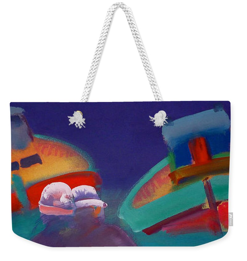 Storm Weekender Tote Bag featuring the painting Storm Horizon by Charles Stuart
