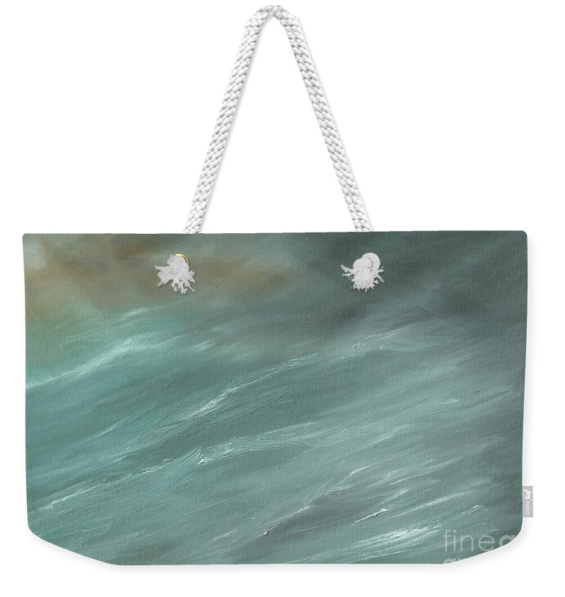 Storms Weekender Tote Bag featuring the painting Storm In Deep Ocean by Vincent Alexander Booth