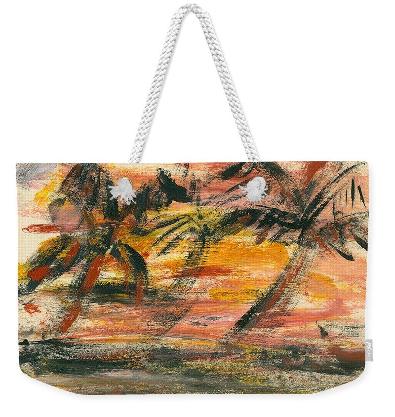 Stormy Weekender Tote Bag featuring the painting Storm by Jorge Delara