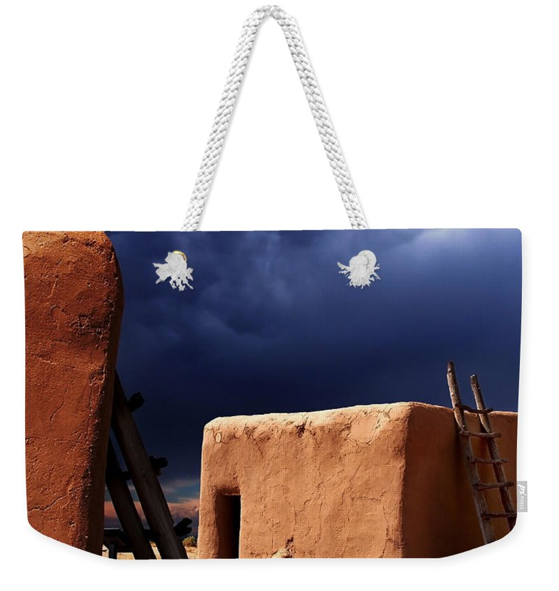 Storm Weekender Tote Bag featuring the photograph Storm On The Mesa by Pablo DeLuna